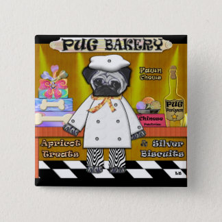 Pug Bakery Button