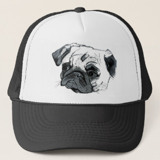 Pug Basebal Hat by Patty's Pet Art