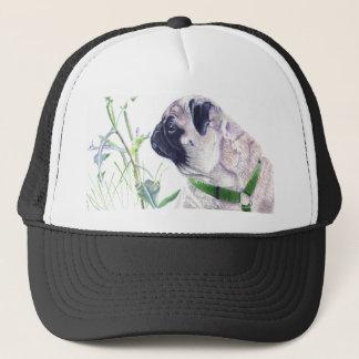 Pug Baseball Hat by Patricia Barmatz