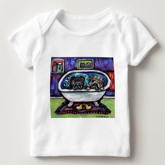 Pug Bathtime Baby T-Shirt