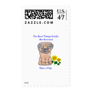 Pug Best Things In Life Postage