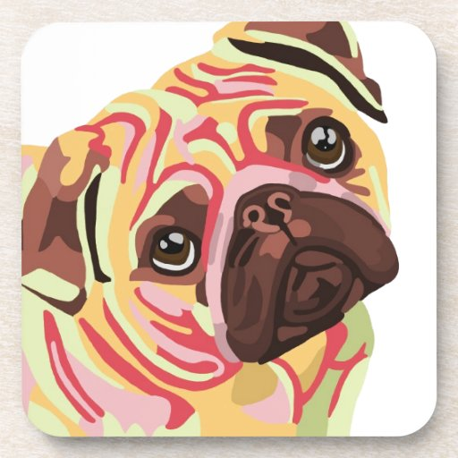 Pug Beverage Coaster