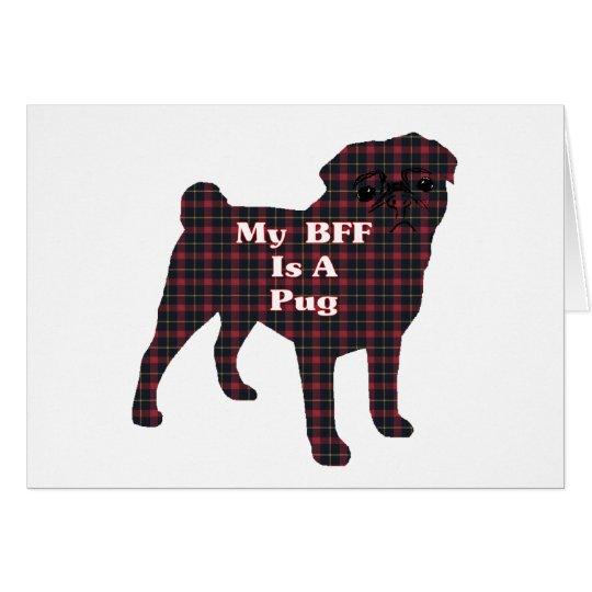 Pug BFF Greeting Card