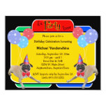 Pug Birthday Barker 4.25x5.5 Paper Invitation Card