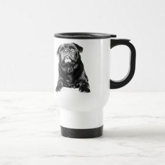 Pug - Black PUG  Black & White Mugs