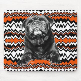 Pug - Black PUG  Black,White & Orange Mouse Pad