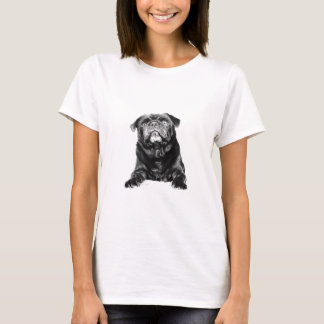 Pug - Black PUG  Black & White T-Shirt