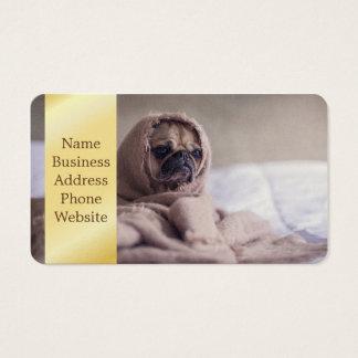 Pug blanket - pet pug - cute pugs business card