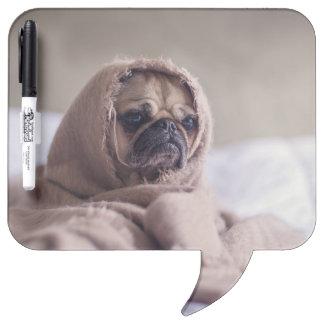 Pug blanket - pet pug - cute pugs Dry-Erase board