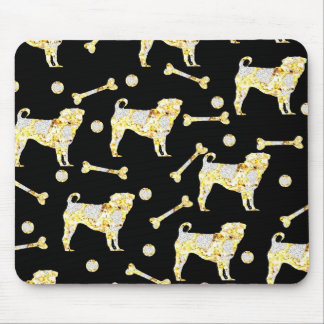 PUG BLING MOUSE PAD