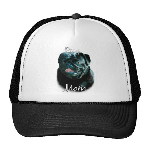 Pug (blk) Mom 2 Trucker Hat