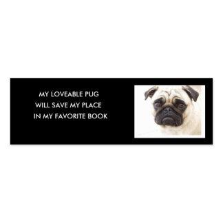 Pug Bookmark.. Mini Business Card