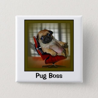 Pug Boss Button