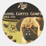 Pug Brand – Organic Coffee Company Classic Round Sticker
