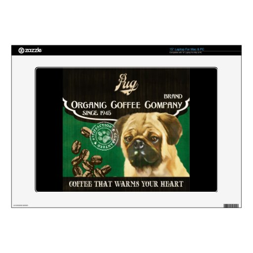 Pug Brand – Organic Coffee Company Decals For Laptops