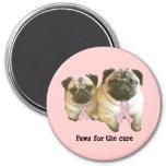 Pug  Breast Cancer Magnet