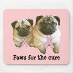 Pug  Breast Cancer Mousepad