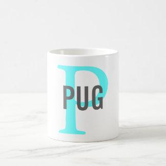 Pug Breed Monogram Design Classic White Coffee Mug