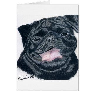 Pug & Bulldog mix - Jaba Card