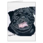 Pug & Bulldog mix - Jaba Greeting Card
