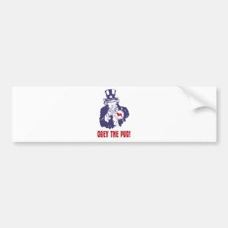 Pug Car Bumper Sticker