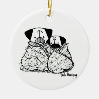 Pug Bundles Burritos Christmas Ornaments
