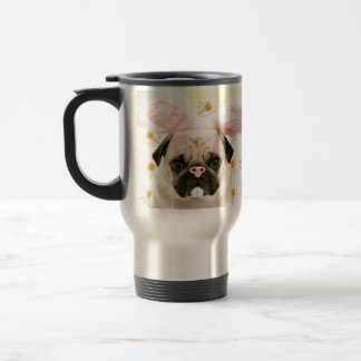 Pug Bunny Ears Travel Mug