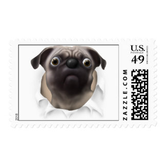Pug Busting Out - Customized Postage
