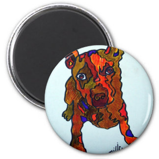 Pug by Piliero 2 Inch Round Magnet