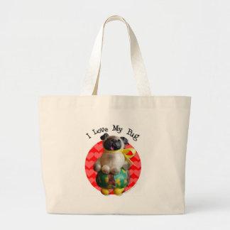 Pug Cafe Canvas Bags
