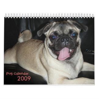 Pug Calendar, 2009 Calendar