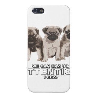 Pug can haz attention iPhone Case