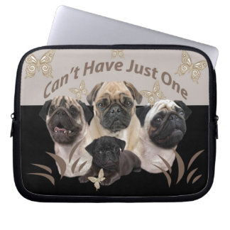Pug Can't Have Just One Apparel and Gifts Laptop Sleeve