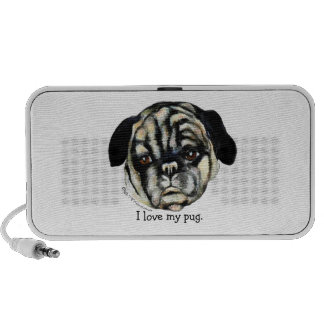 Pug canvas painting Doodle speaker