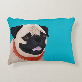Pug Cartoon Accent Pillow