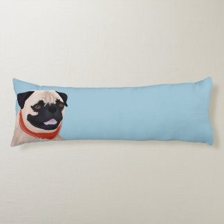 Pug Cartoon Body Pillow