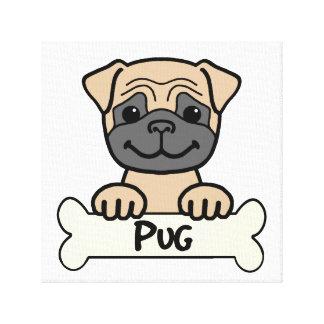 Pug Cartoon Canvas Print