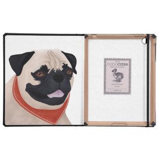 Pug Cartoon iPad Folio Cases