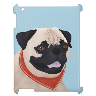 Pug Cartoon Case For The iPad 2 3 4