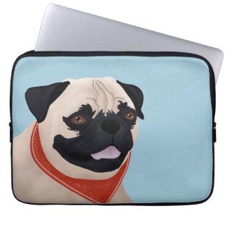 Pug Cartoon Computer Sleeve