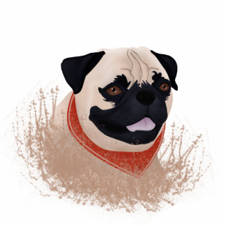 Pug cartoon cutout