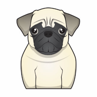 Pug Cartoon Cutout