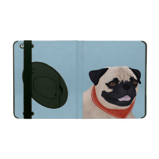 Pug Cartoon iPad Folio Case