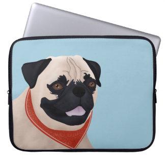 Pug Cartoon Laptop Computer Sleeve