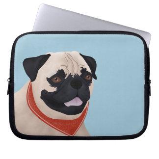 Pug Cartoon Laptop Sleeves