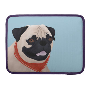 Pug Cartoon MacBook Pro Sleeve