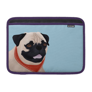 Pug Cartoon MacBook Sleeve