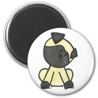 Pug cartoon magnet
