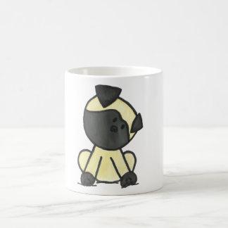 Pug cartoon classic white coffee mug