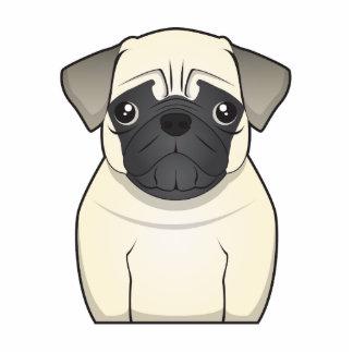 Pug Cartoon Standing Photo Sculpture